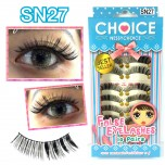 ขนตาปลอมบนแกนไหมรหัส SN27