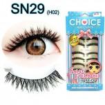 ขนตาปลอมบนแกนไหมรหัส SN29