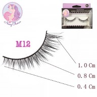 NESSYCHOICE HORSE HAIR FALSE EYELASHES NO. M12