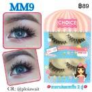 ขนตาปลอมCHOICEแพ็ค2คู่รหัส MM9