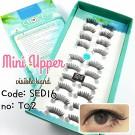 ขนตาปลอมบนแกนเอ็นขนาดมินิรหัส SED16 (เบอร์ T02)