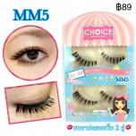 ขนตาปลอมCHOICEแพ็ค2คู่รหัส MM5