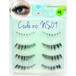 ขนตาปลอมCHOICEแพ็ค4คู่รหัส NS09