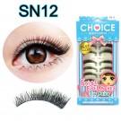 ขนตาปลอมบนแกนไหมรหัส SN12
