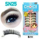 ขนตาปลอมบนแกนไหมรหัส SN25