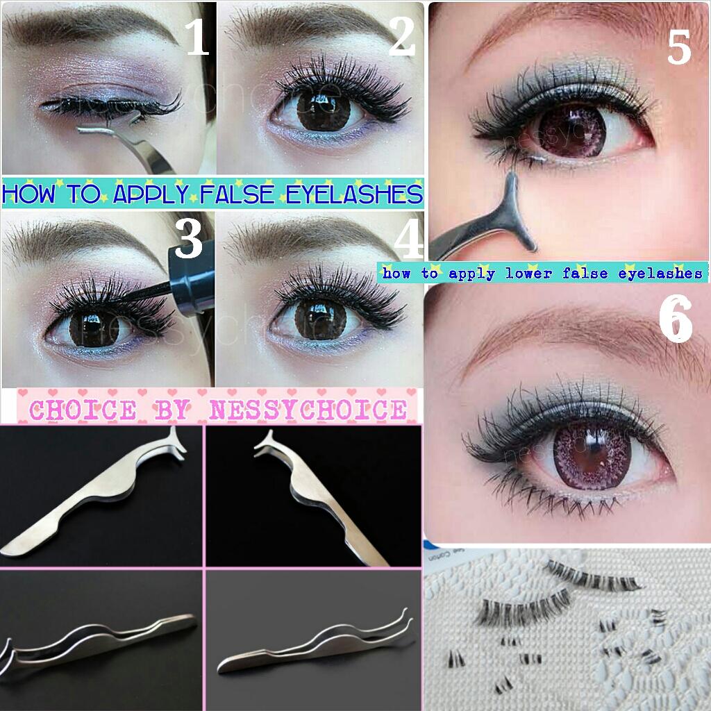 How to use Multifunctional choice False eyelashs tweezer